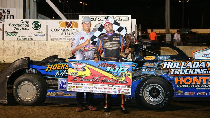 Chad Holladay raced to his career first Deery Brothers Summer Series feature win when the 30thannual IMCA Late Model tour concluded Saturday at West Liberty Raceway. (Photo by Mike Ruefer)